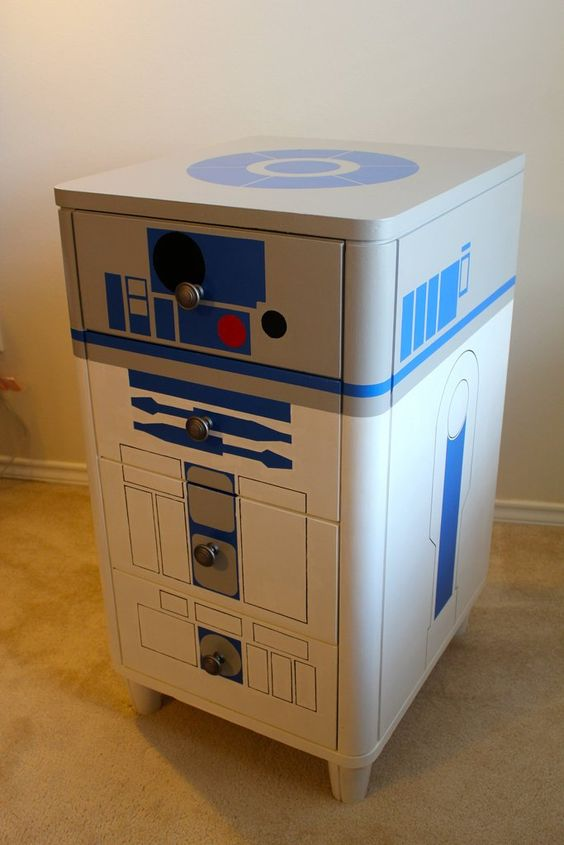 Star Wars Interior Design R2-D2 Dresser Cabinet