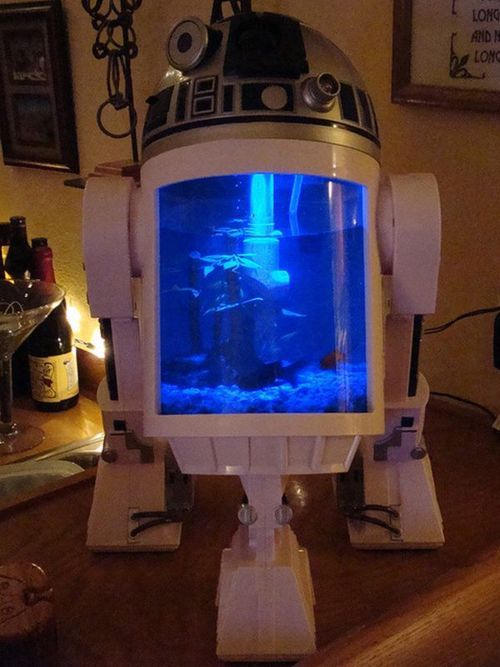 Star Wars Interior Design R2-D2 Fish Tank