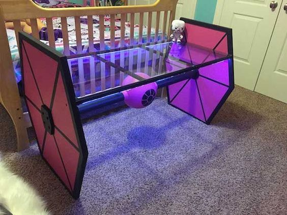Star Wars Interior Design Tie Fighter LED Light-Up Desk