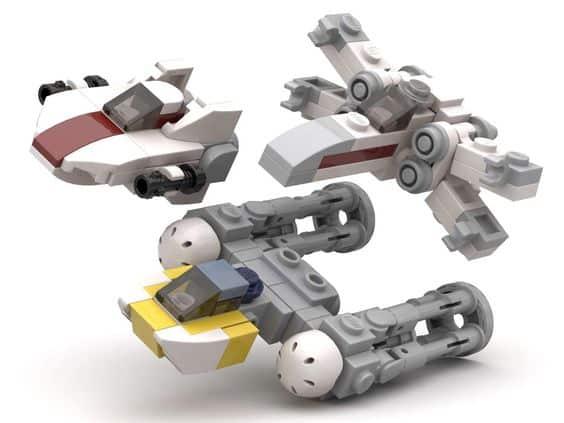 Article Image 1 - Star Wars Mini Set Rebel Star Fighters