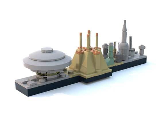 Article Image 12 - Coruscant Skyline Mini Set