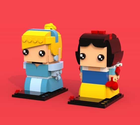 Custom Brickheadz Cinderella Snow White Article Image 23