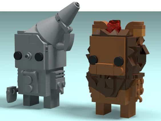 Custom Brickheadz Tinman Cowardly Image 21